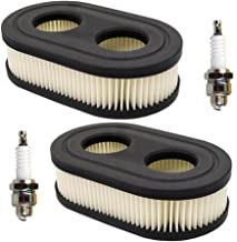 HIFROM (2 Set Oval Air Filter with Spark Plug for MTD Yard Machines Troy-Bilt TB110 TB115 TB200 TB230 TB330 TB370 Walk-Behind Lawn Mower