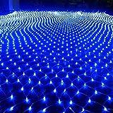 XJJ-Luci di Rete Luci da Giardino Solari da Esterno, Luce Solare A Corda Fata, modalità 3 * 2M 8, Illuminazione con Filo di Rame Impermeabile per Patio Esterno Recinto
