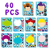 MALLMALL6 40Pcs Toy 4 Make a Face Stickers DIY Party Favors Games Toy 4th Themed Birthday Party Supplies Decorations Sticker Decals Woody Buzz Lightyear Bo Peep Fork Jessie Dress Up Crafts for Kids