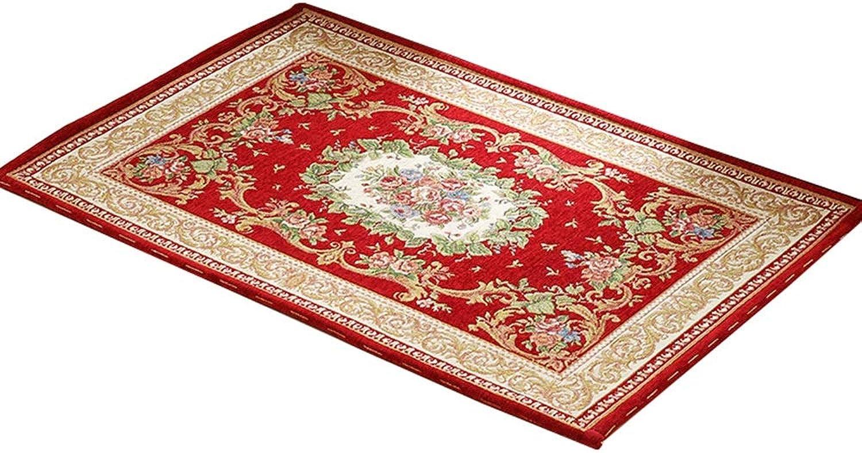 Door Mat Rectangular Door Mat Floor Living Room Bedroom Absorbent Non-Slip Mat Soft and Wearable (color   J, Size   100  150)