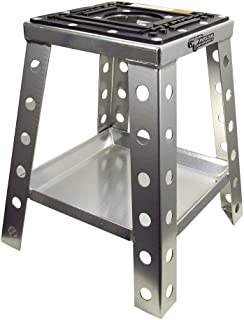 Pit Posse Universal Motorcycle Bike Stand Silver