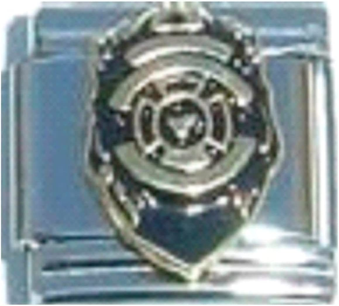 Stylysh Charms Police Department Officer Law Enamel Italian 9mm Link NC171 Fits Traditional Classic