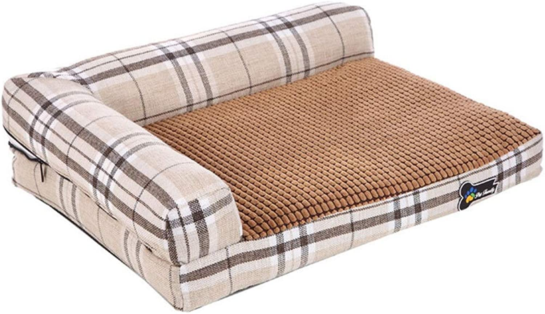 DSADDSD Pet Bed Kennel Washable Four Seasons Available Sofa Cushion Mattress Comfortable And Durable Pet Supplies64  52  14 (color   1 , Size   64cm52cm15cm)