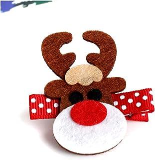 Fgolphd Nouvelle arrivée de Noël Bébé Fille Enfants Hairpins Père Noël Elk Hairclip Bandeau for Les Filles Nouveau-nés (Co...