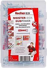Fischer MEISTER-BOX DUOPOWER + schroef, gereedschapskist met 160 pluggen en schroeven, universele pluggen, praktische set,...