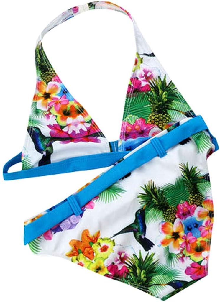 Summer Girls Two Pieces Swimwear Floral Swimsuit Kids Bikini famous Max 88% OFF Set