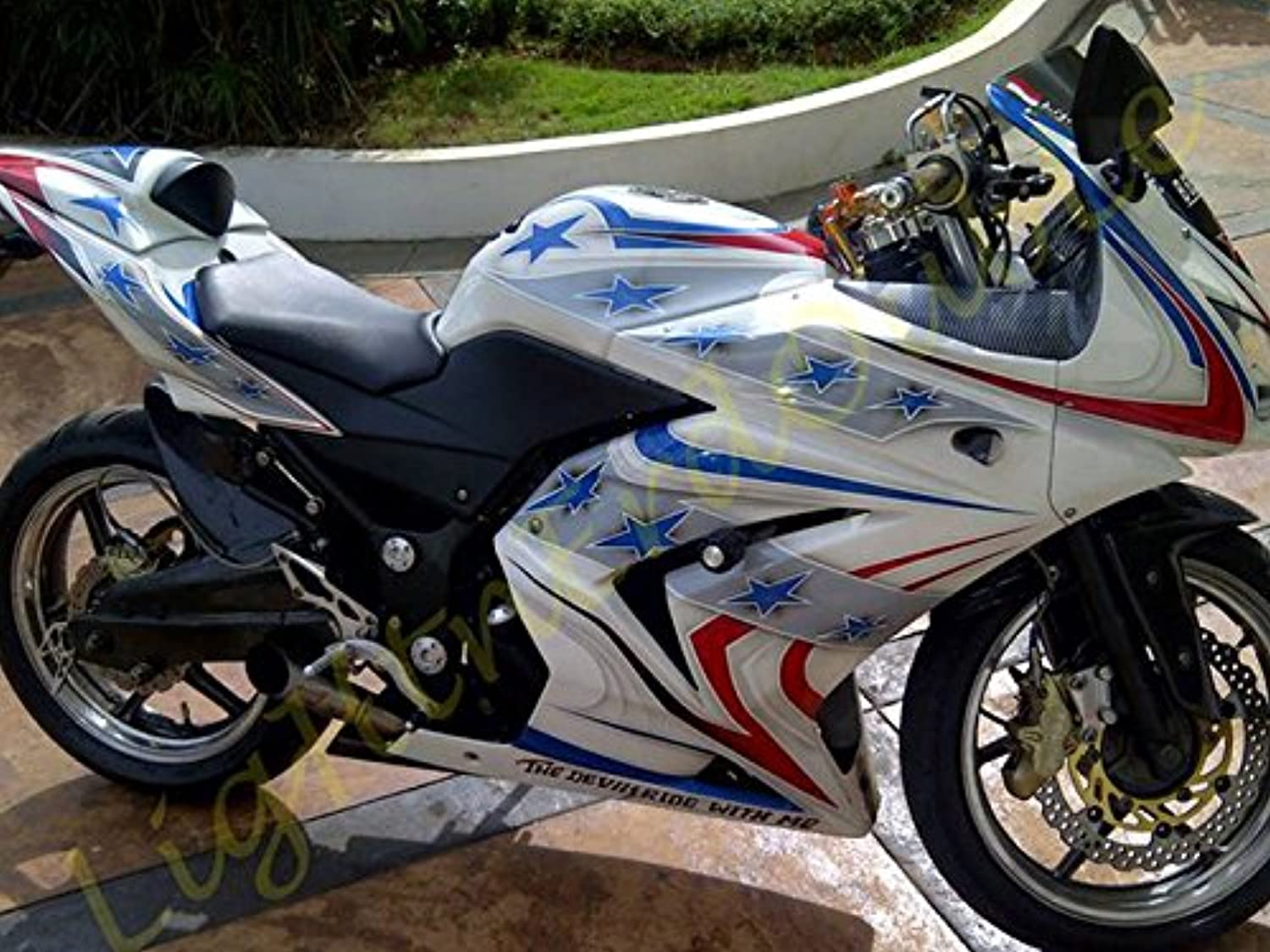Advanblack ABS Injection Fairing Kits Plastic for Kawasaki EX250R Ninja 250 EX250R ZX250 2008 2009 2010 2011 2012