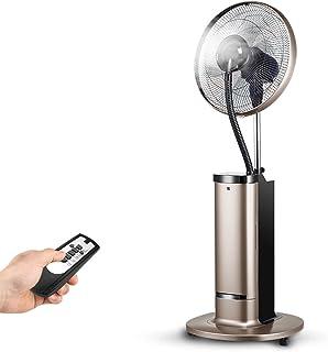 Aires acondicionados móviles Xiaolin Ventilador de pulverización Ventilador de Piso de Uso doméstico Ventilador de Agua de soplado de Niebla Vertical Ventilador de enfriamiento de Agua (Color : Oro)