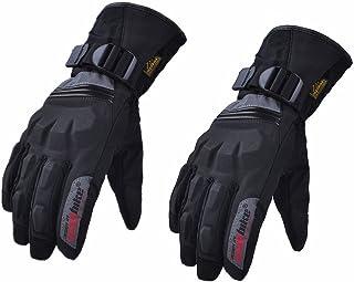 HAOSHUAI Winter Motorhandschoenen Verlengd Verdikking Rijden Waterdichte Warm Handschoenen, Een verscheidenheid van kleuren Ridding handschoenen (Kleur: Rood, Maat : L)