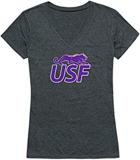 USF University of Sioux Falls Cougars Womens Cinder T-Shirt Heather Charcoal