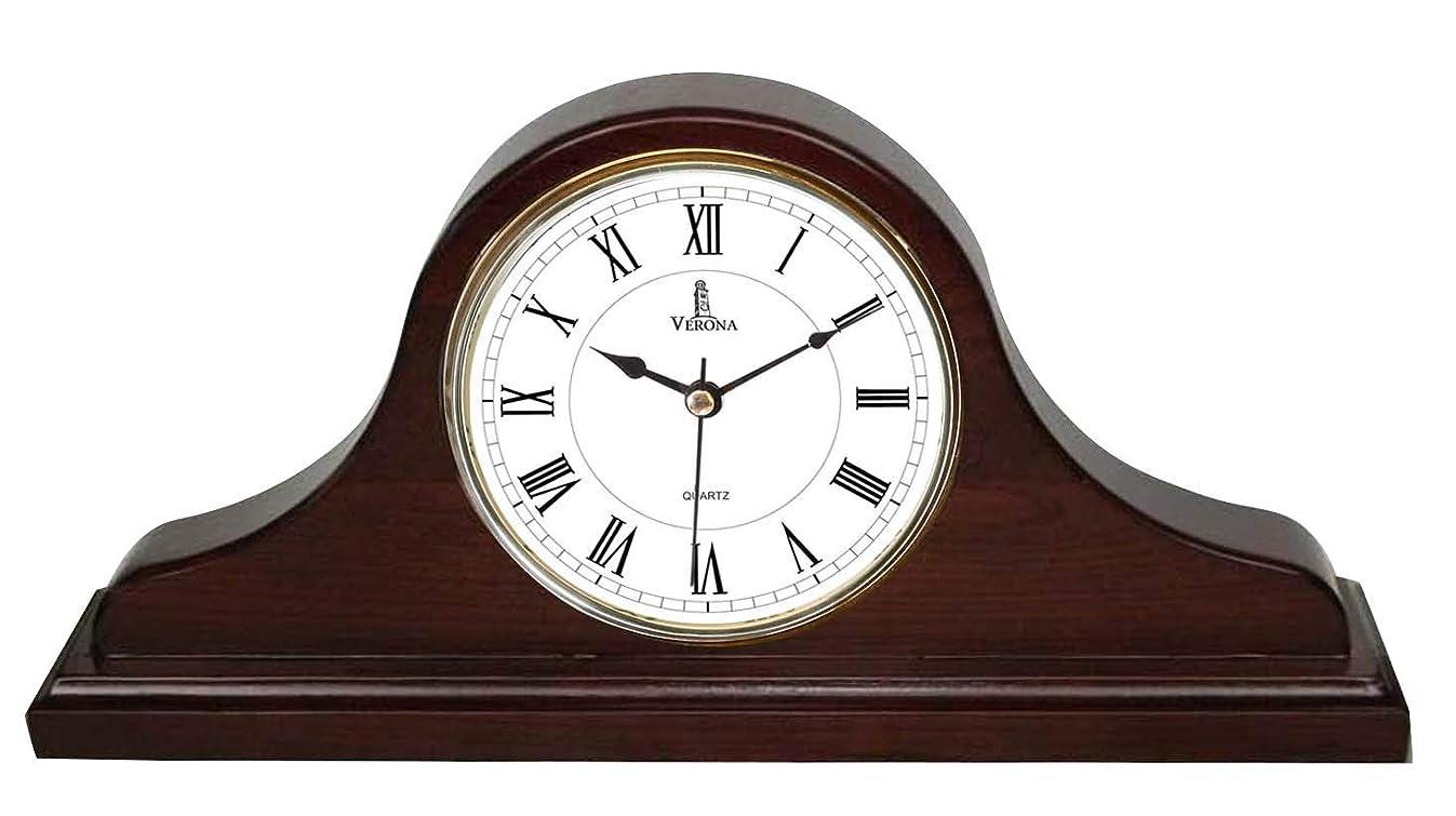 Best Mantel Clock, Silent Decorative Wood Desk Clock, Battery Operated, Dark Wooden Design, for Living Room, Office, Kitchen, Shelf & Home Décor Gift - 15
