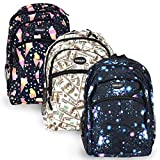 Set of 3 Kids Backpacks for Hiking, Travel, School with Vibrant Colors + Creative Designs & Variety of Themes