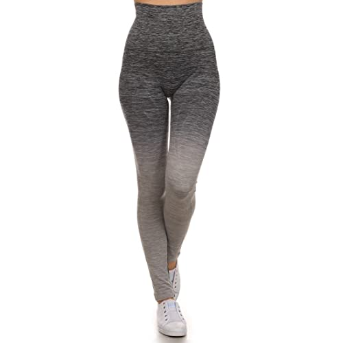 224fbd0e35fe5a ICONOFLASH Women's Athletic Space Dye Ombre Leggings