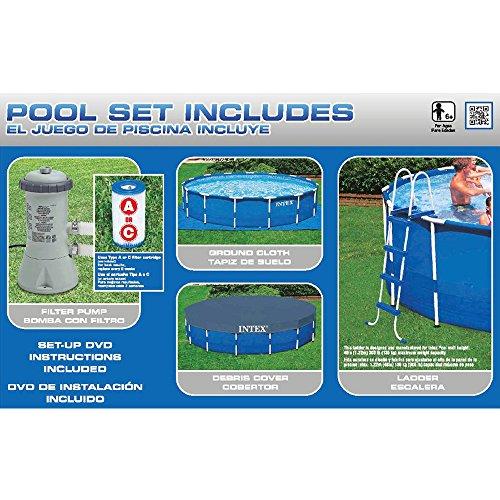 Intex 4,6m x 48in metallo telaio piscina set