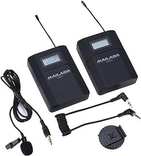 Eboxer WM8 UHF 6 Canales Sistema de Micrófono de Solapa Inalámbrico con Receptor Transmisor DE 3,5 mm Fijo Plataforma para Cámaras de Gama Alta Ordinarias y Cámaras SLR