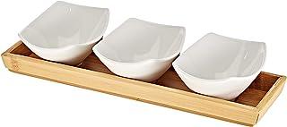 Symphony Bambu Oval Serving Set, White