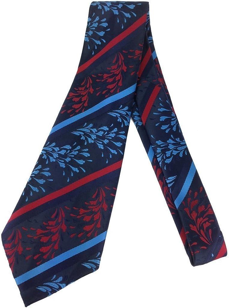 Paisley Stripe Vintage Tie - Jacquard Weave Wide Kipper