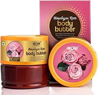 WOW Skin Science Himalayan Rose Body Butter for Toning, Hydrating and Enhancing Skin- No Parabens, Silicones, Mineral Oil & Color - 200mL
