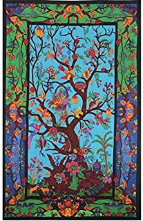 Tree Of Life Wall Hanging Indian Mandala Tapestry Fabric Wallpaper Bedspread Home Decor,60
