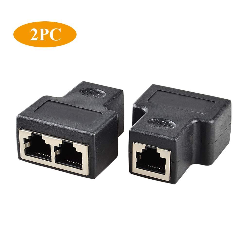 wowaTech Divisor RJ45 Red Divisor Adaptador,Adaptador Divisor de Red RJ45 para Cat5/Cat5e/Cat6/Cat7, Ethernet Splitter.: Amazon.es: Electrónica