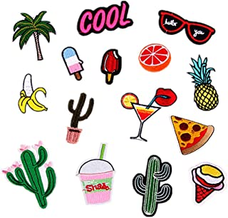 Supvox 15Pcs Sewing Patches Cute Embroidered Patches Embroidery Applique Fruit Patches