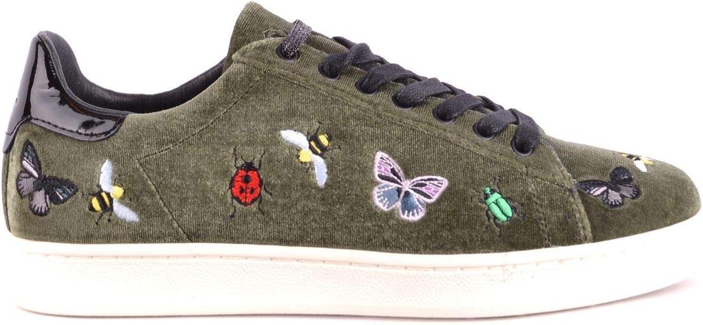 MOA Women's MCBI33183 Green Velvet Sneakers