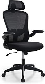 ALPHA HOME Ergonomic Office Chair Mid Back Computer Desk Chair with Flip-up Tufted Armrest Executive Adjustable Mesh Chair...