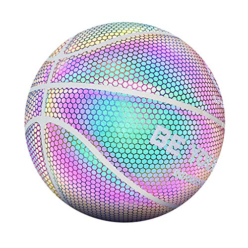 Best Deals! GraPefruiT Battery-Free Glowing Baketball, Size 7 Luminous Reflective Basketball, Light ...