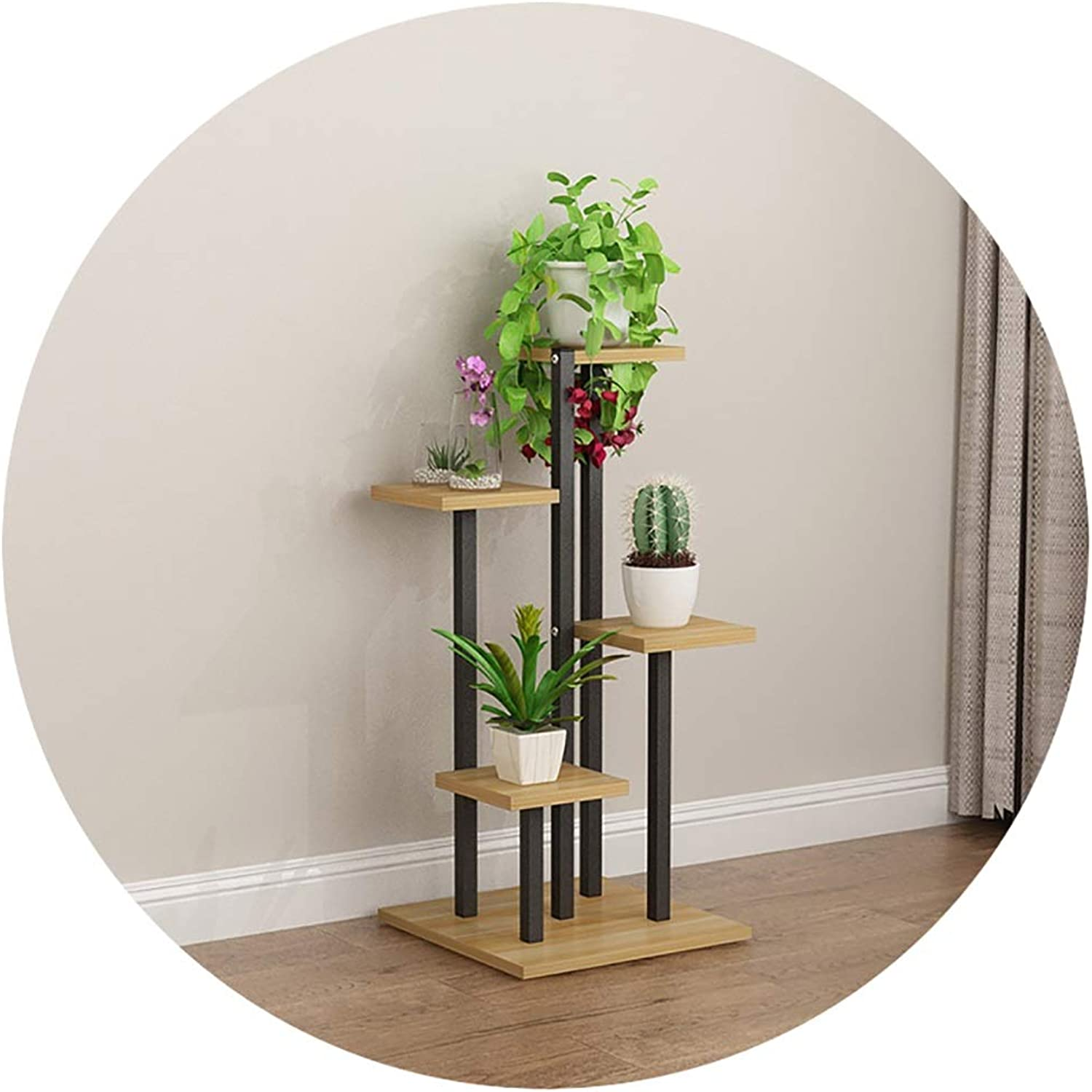 Plant Container Iron Flower Ladder Stand, Multi-Functional Floor Plant Decoration Living Room Bedroom Balcony Flower Pot Rack (color   A, Size   40x40x80cm)