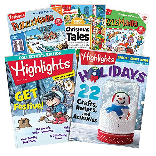 Highlights 6-Piece Christmas Set for Boys and Girls Ages 6-12