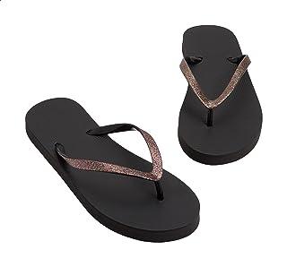Aeropostale Basic Glitter Strap Flip Flops for Women