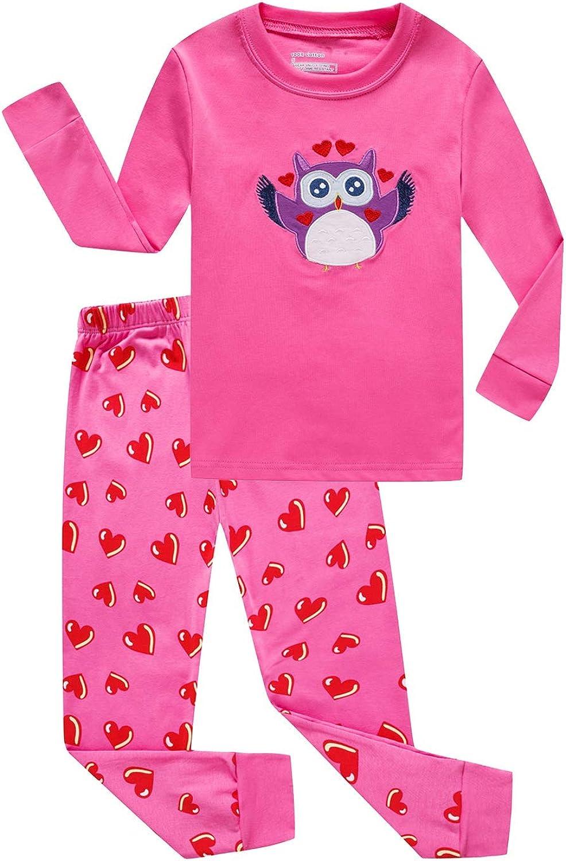 Boys girls Sleepwear Long Sleeve Pajama sets 100% Cotton Pjs Size 16