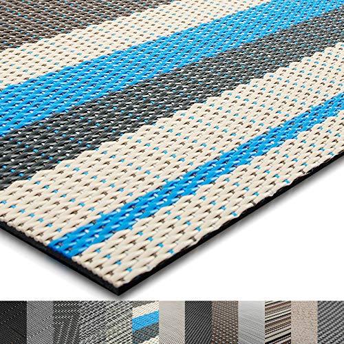 casa pura® Indoor- und Outdoor-Bodenbelag Ravenna | kunstvoll gewebter Terrassenteppich | als Outdoor Teppich Meterware oder Läufer für innen | 40 Größen (90x250cm)