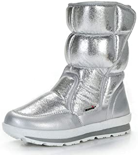 becc529fd Hoxekle Silver Winter Boots Quality Women Snow Boots Fake Fur Insole Lady Warm  Shoes Girl Fashion