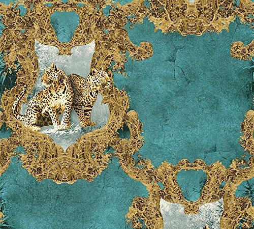 A.S. Création Vliestapete Hermitage 10 Tapete klassisch neo-barock 10,05 m x 0,53 m blau braun Made in Germany 335435 33543-5