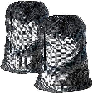DoGeek Bolsas de Malla de Lavandería Bolsas de Lavad para Ropa Interior, Calcetines,Sujetadores, Camiseta,Ropa de Bebé (Negro, 2 pcs)