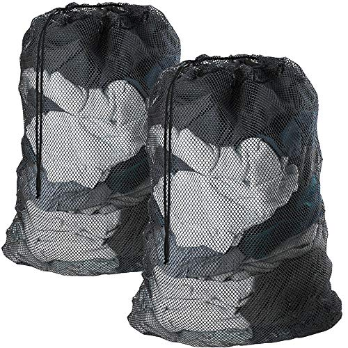 Meowoo Large Mesh Laundry Bag with Drawstring27×35inch Large Laundry Bags for Delicates Heavy Duty Net Wash Bag for Washing Machine-Black