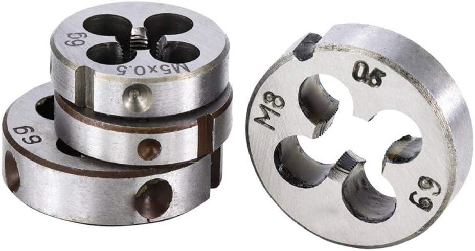 Size : M8x1.0 SHENYUAN 1pc M2 M3 M4 M5 M6 M7 M8 M9 M10 M12 M14 M15 M16 Right Hand Thread Die Metal Threading Tools Metric Thread Die