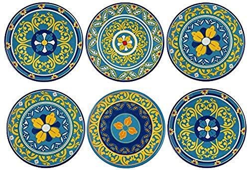 36 piezas de vajilla 100% de melamina conjunto plato de jardín @ Jardines de Italia