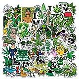 YEESACG - Cool Weed Stickers   50 Pcs Pack   Waterproof Vinyls Marijuana Cartoon Tide Cards   Laptop,Luggage,Skateboard,Water Bottle,Hydro Flask,Bicycle,Bumper,Snowboard,Decorate For Adults Teens Kids
