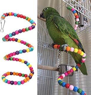 PetNest Bird Wooden Spiral Swing Bird Toys for Small Parrots - Bird Toys for Budgies - Bird Toys for African Love Bird - B...