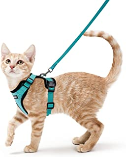 rabbitgoo Cat Harness and Leash for Walking, Escape Proof Soft Adjustable Vest Harnesses..