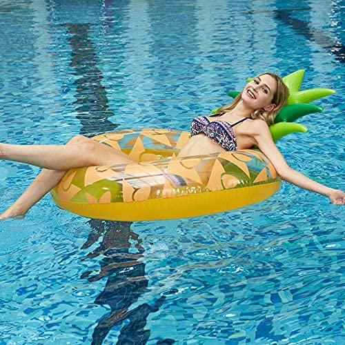BGSFF Flotador Inflable para Piscina, colchón Flotante, Tumbona para Piscina, Cama Inflable de piña para Adultos