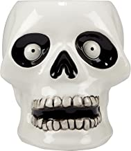 "Certified International Scaredy Cat 8.5"" 3-D Skeleton Treat Jar, Multicolor"