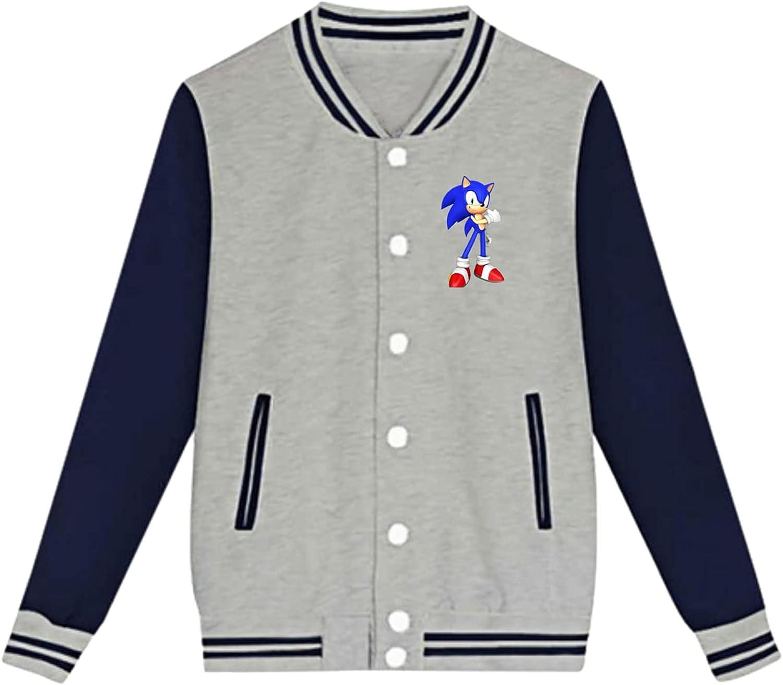 Sonic Teen Boys Fleece Hipster Sport Baseball Max 47% OFF Jacket Inventory cleanup selling sale Coa Uniform