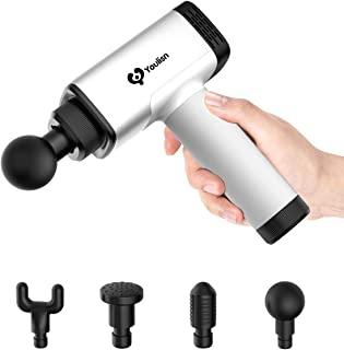 [Third Generation]Hand held Deep Muscle Fascia Massage Gun,Youlisn Cordless Rechargeable Deep Tissue Massager&Muscle Portable Massage Device Massage Body Relax Tools for 4 Massage Head