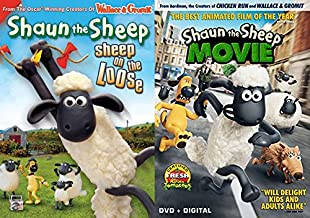 Shaun The Sheep Collection Sheep on the Loose & Shaun the Sheep Movie 2-DVD Bundle Animated Movie Collection Kids Feature set