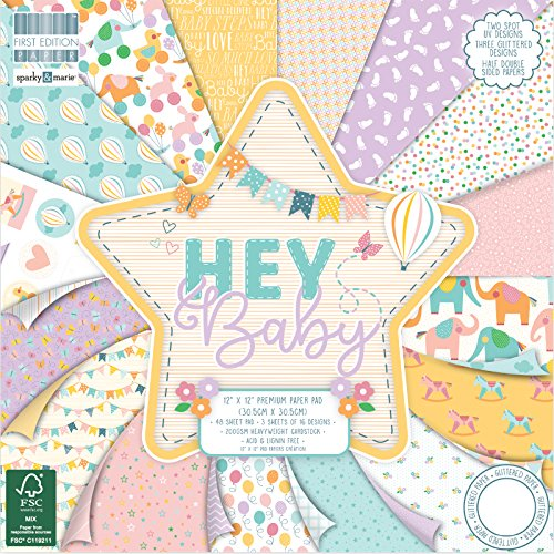 "First Edition FSC, Papel 12 ""x12"" Hey Baby Pad, papel, multicolor, 30.5 x 30.5 cm"