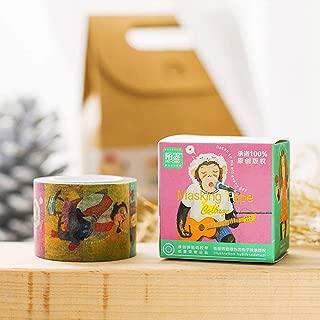 Original Designed Boxed Cartoon Monkey Washi Tape, Doraking Original Cartoon Monkey Washi Tape for Scrapbook, Monitor, Laptops, Kids (Cool Monkey, 1Roll/Box)