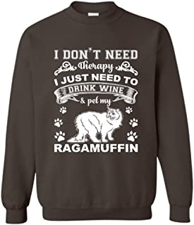 Brown Bee Drink Wine and Pet My Ragamuffin Sweatshirts, Long Sleeve Shirt, Clothes